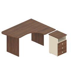 Стол угловой с тумбой G-103+G-27+G-30