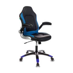 Игровое кресло Бюрократ VIKING-1 черный/синий