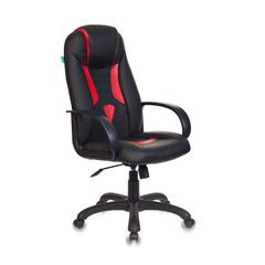 Игровое кресло Бюрократ VIKING-8 черный/красный