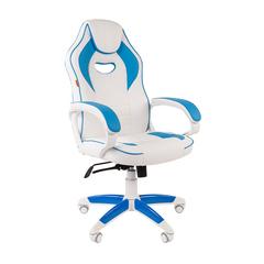 Игровое кресло GAME 16 белый/голубой