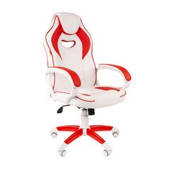 Игровое кресло GAME 16 белый/красный