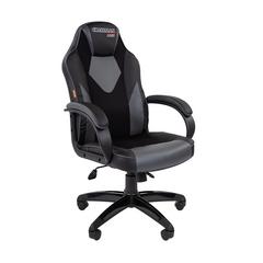 Игровое кресло GAME 17 черный/серый