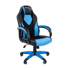 Игровое кресло GAME 17 черный/голубой